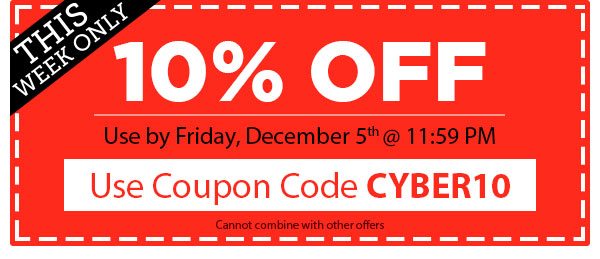 One Day Only! 10% OFF Any Order!