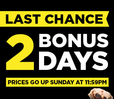 LAST CHANCE! 2 Bonus Days!